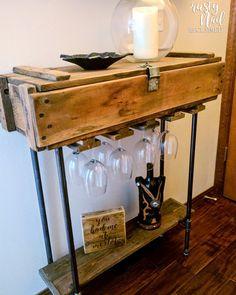 Military ammunition box reclaimed as wine bar