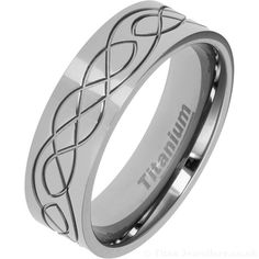 Titanium Wedding Rings Our new Titanium Celtic wedding ring either polished or with a satin finish. Available in UK sizes P to Z Celtic Rings, Celtic Wedding Rings, Titanium Wedding Rings, Titanium Rings, Wedding Men, Wedding Bands, Titanium Jewelry, Modern Jewelry, Rings For Men