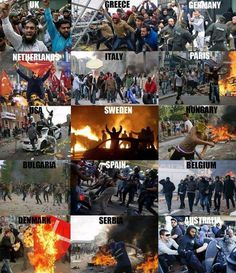 Violence across the world caused by a religion that teaches hate, violence and intolerance, which is Islam Islam, Paris, Social Issues, Bulgaria, Wake Up, Denmark, Obama, Belgium, Sweden