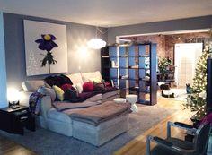 living room decor, ikea expedit room divider
