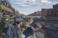 'The Liffey Swim' 1923 Jack B. Yeats National Gallery of Ireland James Joyce, Great Short Stories, Irish Painters, Jack B, Irish Culture, Penguin Classics, Irish Art, Artist Profile, The Life