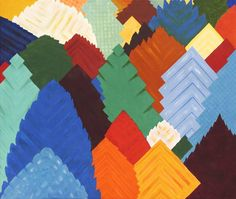 Forest of Squares - Patchwork Forest Abstraction