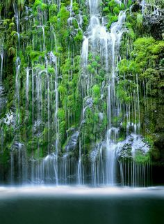 Mossbrae Falls - located in Shasta Retreat, Dunsmuir, California  (by John Qu on 500px)