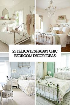 25 delicate shabby chic bedroom decor ideas cover