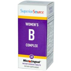 Buy Superior Source Women's B Complex 60 MicroLingual Tablets at Megavitamins supplement Australia,Discount on volume available. Learn more - where to buy and what are the pros & cons Women's B Complex.
