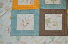Close up of Woodland Wonders for Baby Close Up, Woodland, Quilts, Blanket, Baby, Quilt Sets, Blankets, Baby Humor, Log Cabin Quilts