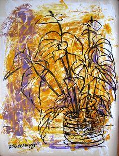 #art , #acrylic , #flower , #still_life , #yellow