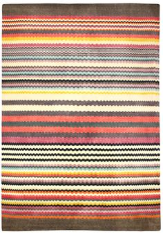 Feather Stripe Rug designed by Margo Selby - Hand-tufted.