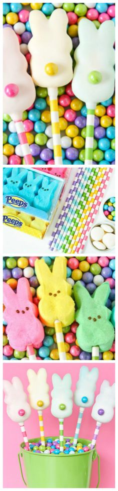 Easter Peeps Pops ~ Quick, super simple and so adorable!
