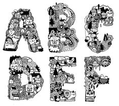 #alphabet #typography by Gemma Correll
