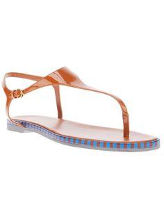 SERGIO ROSSI - monoblock flat sandal 1
