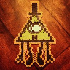 Bill Cypher Gravity Falls perler beads by colersboi