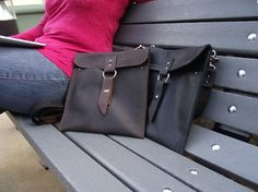 11 Leather Laptop Bag: Rustic Brown Slim by CopperRiverBags, $90+ small... won't hold much besides the laptop