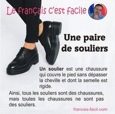 """La différence entre """"soulier"""" et """"chaussure"""""""
