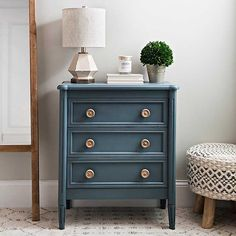 Discover a unique selection of dressers and chests at Kirkland's! Find a chic, mirrored dresser or traditional chest of drawers to suit your storage style! Decor, Furniture, Luxurious Bedrooms, Bedroom Furniture, Blue Chests, Guest Bedroom Decor, Bedroom Night Stands, Furnishings, Dresser As Nightstand