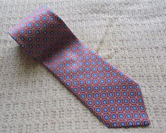 Stefano Ricci Men Red Blue Gold Diamond 100% Silk Tie #StefanoRicci #Tie