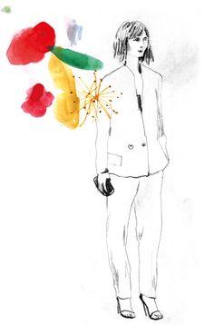 metamundus: New,  watercolours, pencil, fashion illustration
