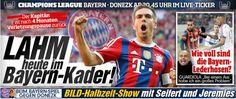 Bayern-Kapitän nach 4 Monaten Verletzungspause zurück - #scorpio Lahm heute im Kader gegen Donezk http://www.bild.de/sport/fussball/philipp-lahm/im-bayern-kader-gegen-donezk-40115614.bild.html