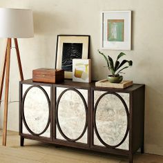 Foxed Mirror Buffet | west elm - for the living room