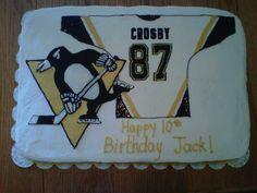 Pittsburgh Penguins Crosby Birthday Cake