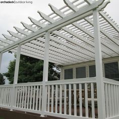 Smaller decks are good candidates for a broad pergola whereas a partial pergola works best with a roomy deck to define certain areas and reduce the 'load' (weight) overhead. Screened In Deck, Deck With Pergola, Screened Porches, Attached Pergola, Small Outdoor Spaces, St Louis Mo, Deck Design, Mother Nature, Backyard