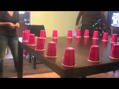 """group games with props Family Game Night """"Minute To Win It"""" Group Games For Kids, Youth Games, Family Fun Games, Games For Teens, Family Game Night, Couples Game Night, Night Games, Easy Party Games, Indoor Party Games"""