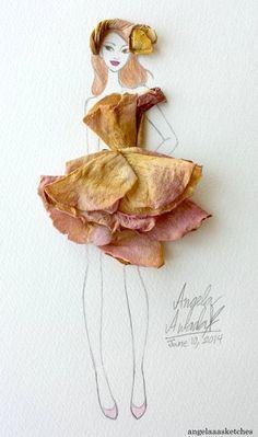 Flower Fashion 1 by angelaaasketches on DeviantArt