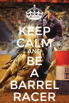 Barrel racing Can't wait to get back going all the time