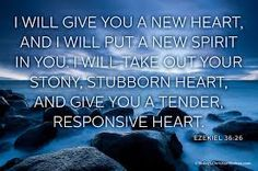 O Mundo Invisível de uma Mulher: I will give You a new heart...