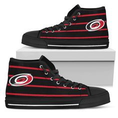 Edge Straight Perfect Circle Carolina Hurricanes High Top Shoes – Best Funny Store