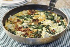 Ομελέτα με βλίτα και φέτα - Συνταγές | γαστρονόμος Omelet, Quiche, Feta, Potato Salad, Recipies, Brunch, Vegetarian, Cooking, Breakfast