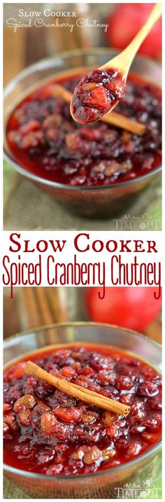 The refreshing flavor of this Slow Cooker Spiced Cranberry Chutney is the perfect addition to your holiday table! Made with fresh cranberries, golden raisins, and Granny Smith apples, this chutney is perfectly sweet with a hint of tartness that is extra refreshing.