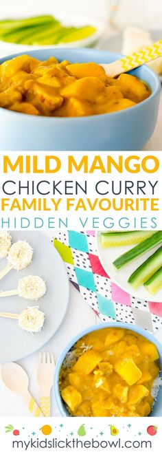 Healthy Meals For Kids Mango chicken curry, an easy mild hidden veggie recipe for kids. A family favourite - Mango chicken curry, an easy mild hidden veggie recipe for kids. A family favourite! Curry Recipes, Veggie Recipes, Baby Food Recipes, Easy Dinner Recipes, Indian Food Recipes, Healthy Recipes, Toddler Chicken Recipes, Toddler Dinner Recipes, Hidden Vegetable Recipes