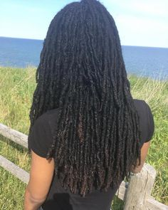 Have reached my original length goal of mid-back. Have reached my original length goal of mid-back. ✨🌻 Have reached my original length goal of mid-back. Dreadlock Styles, Dreads Styles, Dreadlock Hairstyles, Braided Hairstyles, Curly Hair Styles, Natural Hair Styles, Braided Locs, Flower Hairstyles, Loc Updo