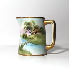 Hand Painted Nippon Pitcher by Morimura Bros by Hallingtons, $37.95