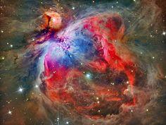 Linha D'Água Imagens Astronômicas: Nebulosa de Órion - Bela Região de Formação Estela...