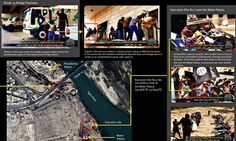 Human Right Watch map that appears to show an Isis execution site near Tikrit. Photograph: Human Rights Watch
