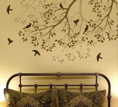 Butterfly and Bird stencils for wall decorating. Large selection of stencils for DIY decor at great prices. Butterfly stencils for nursery, teenage girl bedroom, walls, furniture and craft projects. Bedroom Wall, Bedroom Decor, Nursery Decor, Bedroom Ideas, Master Bedroom, Inspiration Wand, Creative Inspiration, Wall Design, House Design