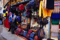 With tens of thousands of would-be trekkers in Nepal every year, the trekking goods trade is big business in Thamel, Kathmandu.    Read more: http://www.lonelyplanet.com/asia/travel-tips-and-articles/1440#photo-4726-31#ixzz1qjpBwQlY