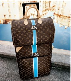 Louis Vuitton Pegase and Keepall. Why not travel in style?
