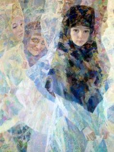 Georgy Shishkin / La ville invisible de Kitege II, The invisible city of Kitezh II New Fine Arts, Invisible Cities, Book Illustration, Art Boards, Good Books, Cool Designs, Painting, Russia, Nice