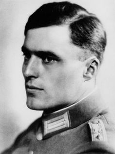 Colonel Claus von Stauffenberg. Became the thunderbolt behind operation Valkyrie, the plot to assassinate Adolf Hitler. Stauffenberg was executed for trying to save Germany from It's Nazi fate.