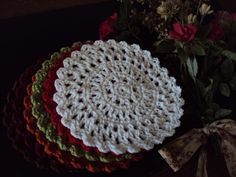 Free Crochet Pattern-Sun Catcher Dish Cloths