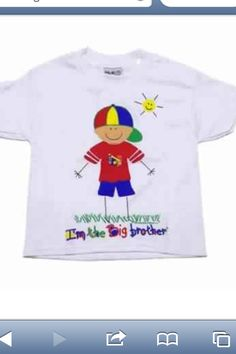 This will be Bryce's shirt that he wears the day his SWEET little SISTER Kaleigh Grace is born!(: