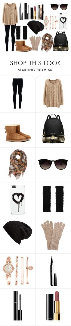 """""""Sin título #763"""" by pinkybunny ❤ liked on Polyvore featuring NIKE, UGG Australia, MICHAEL Michael Kors, Ray-Ban, Zero Gravity, Free People, White House Black Market, Anne Klein, Marc Jacobs and Chanel"""