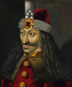 This vintage European history painting features Vlad the Impaler, Prince of Wallachia.
