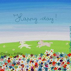 Cani in Cornice: Happy day!...Daisy's diary by Gabriella Vantini