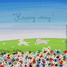 Cani in Cornice: Happy day!...Daisy's diary by Gabriella Vantini
