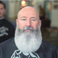 Bald With Beard, Beard Fade, Beard Look, Full Beard, Bald Men, Viking Beard Styles, Beard Styles For Men, Hair And Beard Styles, Goatee Styles