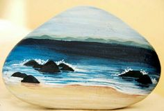 but on i giant rock :D Seashell Painting, Pebble Painting, Pebble Art, Stone Painting, Stone Crafts, Rock Crafts, Rock And Pebbles, We Will Rock You, Hand Painted Rocks